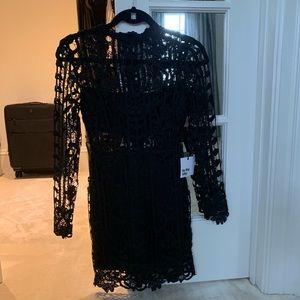 By the way. Mini Black lace dress NWT XXS